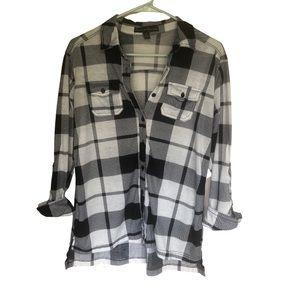 French Laundry Black And White Plaid Shirt…